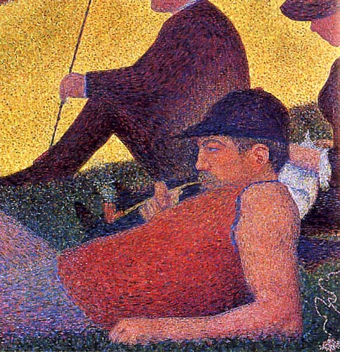 Detail of Sunday on La Grande Jatte