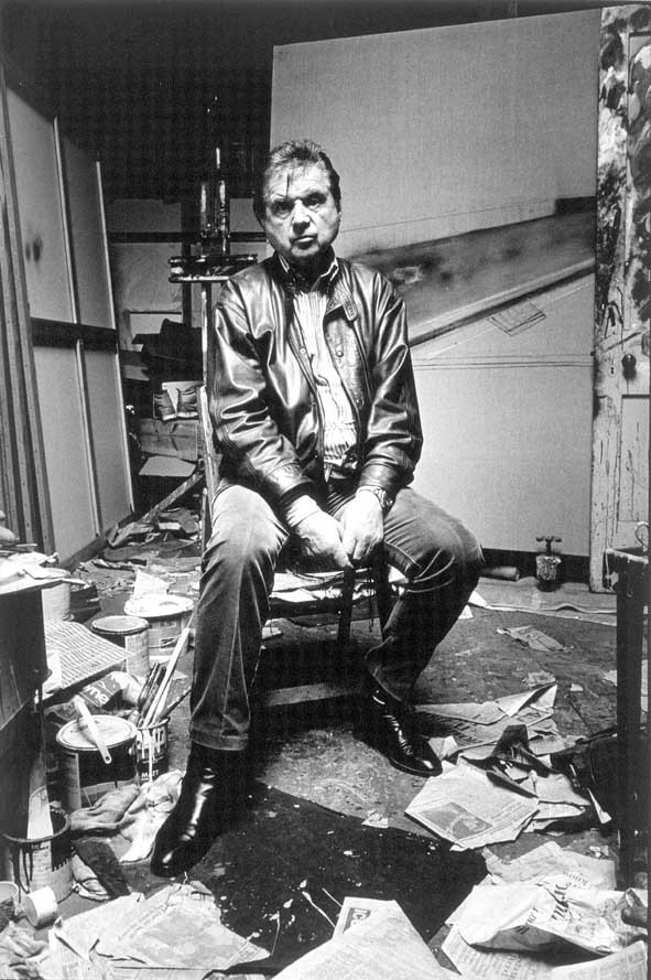 Francis Bacon in his studio
