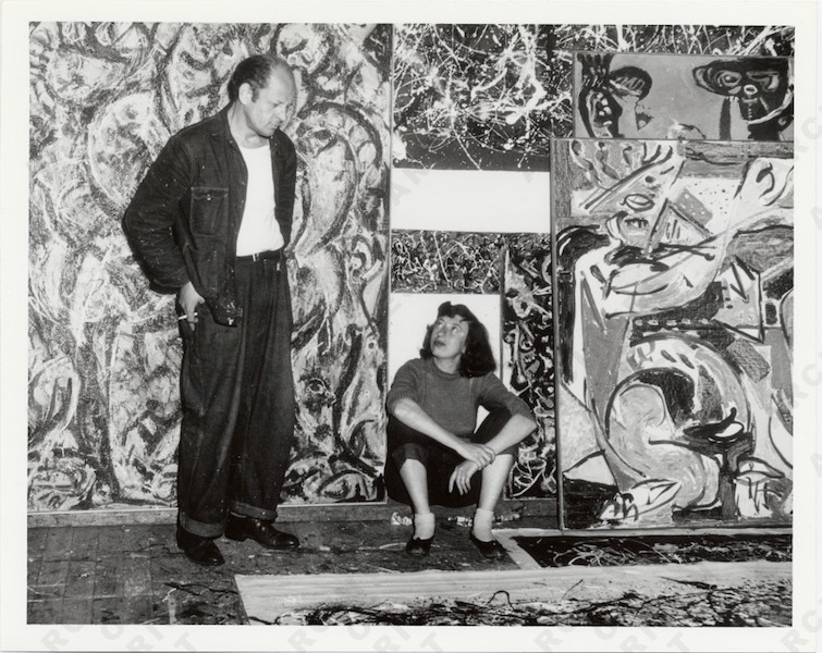 Pollock and Krasner in the studio