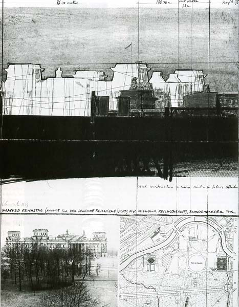 Plans for the wrapping of the Reichstag