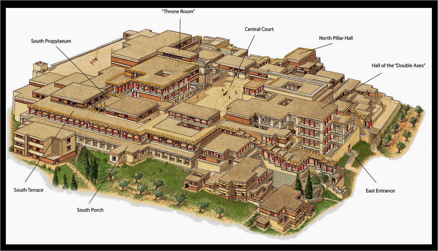 Artist's Reconstruction of Palace at Knossos