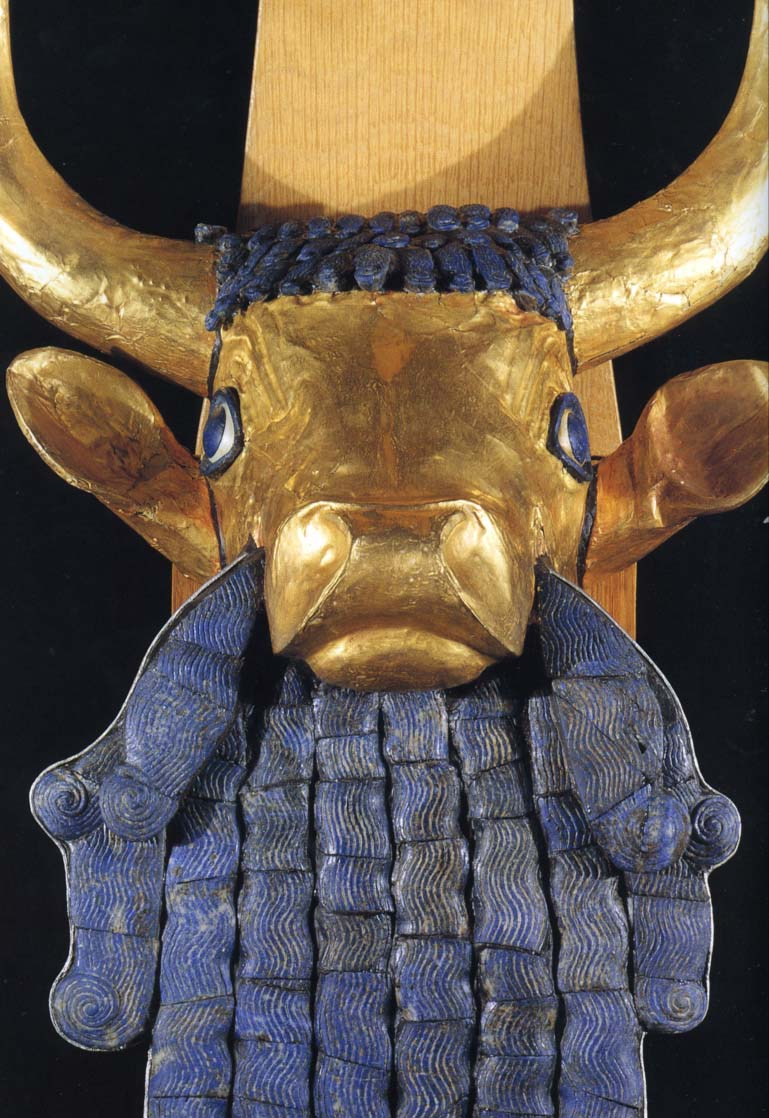 Bull head from Lyre from Ur
