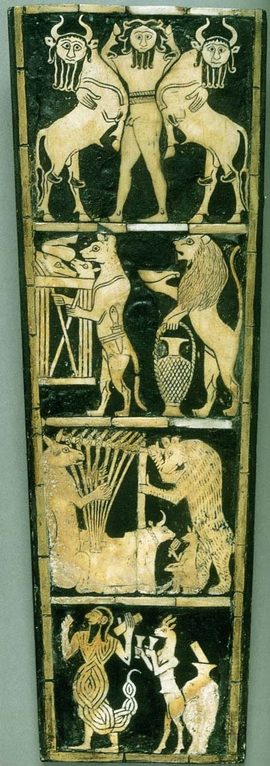Inlay panel from the soundbox of a lyre, from Ur