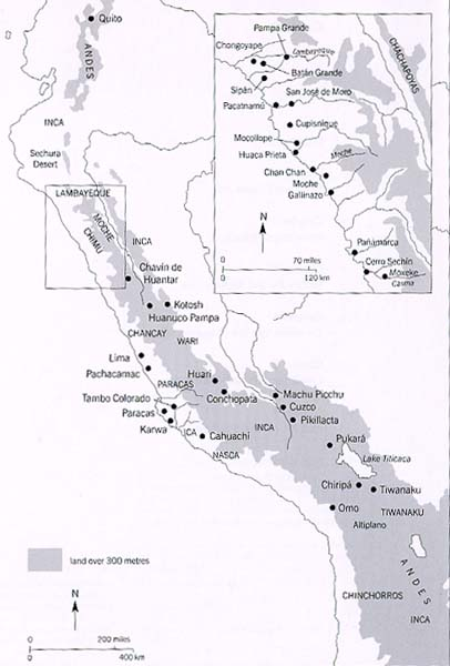 Map of the Andes