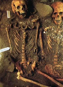 sacrificial victims at the Temple of the Feathered Serpent