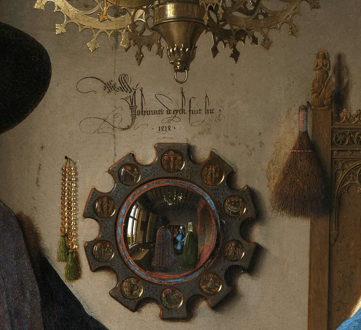 Detail of the Portrait of Giovanni Arnolfini (?) and His Wife, Giovanna Cenami (?)