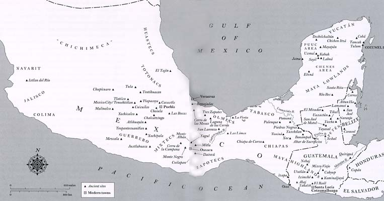 Map of Ancient Mesoamerica