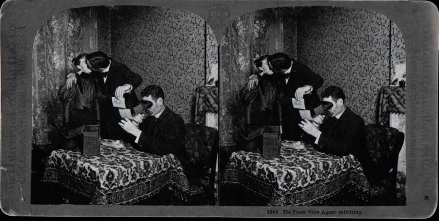 Stereoscopes in use